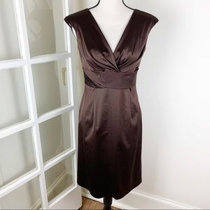 Donna Ricco Cocoa Stretch Satin Cocktail Dress 4
